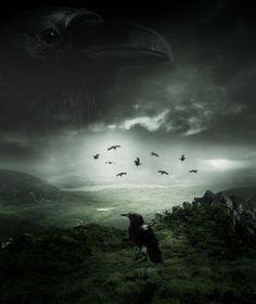 Watchers in the night sky ~ A Crow's Land by konishkichen on DeviantArt