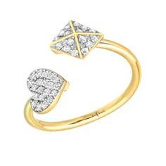 Heart Appeal Ring | Red C Jewels #jewelry #ring #diamond #heartring #diamondheartring #pavepyramid #diamonds #diamondring #daintyjewelry