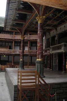 Shakespeare's Globe Theatre's Stage, London.: