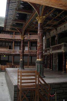 Shakespeare's Globe Theatre's Stage, London.: