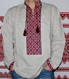 Vyshyvanka mens Ukrainian embroidered Gray shirt New Hand... https://www.amazon.com/dp/B01MSHZSV6/ref=cm_sw_r_pi_dp_x_P1LhybSQV2MXF