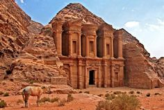 This ancient city is famous for its buildings that are carved from stone.  Image Source: Shutterstock