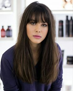 Beautiful fringes with long hairstyles Schöne Fransen mit langen Frisuren # . - Beste neue Frisuren , Beautiful fringes with long hairstyles Hairstyles With Bangs, Pretty Hairstyles, Bangs Hairstyle, Hairstyle Ideas, Hairstyles 2016, Long Hairstyles With Fringe, Long Haircuts With Bangs, Haircut Bangs, French Hairstyles