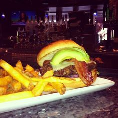 Come get a little sunshine with our California burger! A Fisher Farms patty with Swiss cheese, bacon, and avocado!! Yum