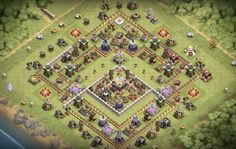 War Base Designs & Trophy Farming Base Designs you can use to protect Resources, Stars & Trophies and Dark Elixir for Town Hall Trophy Base, Star Trophy, Clash Of Clans Game, Layout, Cbr, Movies Online, Fanart, Geek, War