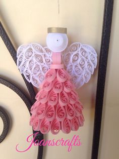 Quilling, Angel Ornament, choose your color