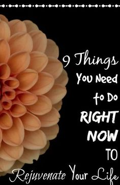 9 Things you NEED to do RIGHT NOW to Rejuvenate Your Life - I needed this right now! Lack of adventure and change of routine in my life is depressing - these are some great tips to not only pick up my motivation but to help myself and others! So inspiring!
