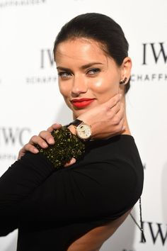 Pin for Later: Miley Cyrus Celebrates the Holidays Her Way . . . With Tinsel Hair Adriana Lima Fresh from the Victoria's Secret Fashion Show, Adriana wore a creamy red lip to a Portofino event during Art Basel in Miami Beach, FL.