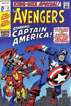 Avengers Annual #3 (Sep '69) cover by John Buscema & Frank Giacoia