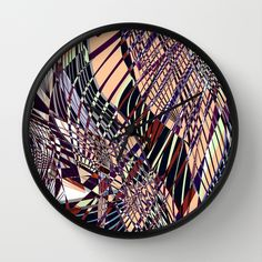 SWEEPING LINE PATTERN I Wall Clock by Pia Schneider [atelier COLOUR-VISION] #pattern #geometric #graphicdesign #art #lines #allover #pastels #salmon #marsala #blue #purple #decorative #abstract #plants #floral #nature #piaschneider #ateliercolourvision #rug #arearug #carpet #decor #home #interiorstyle #roomdecor #roofdecor #decoridea