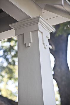 adding details to the exterior of your home, curb appeal, lighting, Details at the op of porch columns also give a home character
