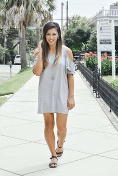 A Glimpse of Glam | Gray Cutout Dress