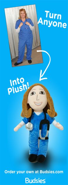 Turn your loved ones into a custom plush doll, a unique keepsake they can treasure forever. Super simple to order and more huggable (and less expensive) than an American Girl doll ;) Plus, it's custom-made and hand-sewn just for you! And now, there's a voice recorder option, so you can add a special special to your plush lookalike! Perfect for military families who live apart, hilarious gag gifts for friends, or to celebrate big accomplishments! Get yours for just $89 at Budsies.com