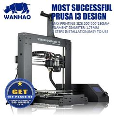(299.00$)  Watch now - http://ai403.worlditems.win/all/product.php?id=32759072206 - Wanhao New 2.1 - 2017 High Quality Precision Reprap Prusa i3 DIY Build size 200*200*180mm