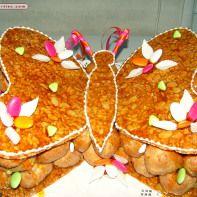 piece montee mariage original gateau choux nougatine personnalisé papillon