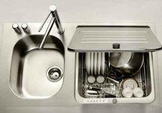 Good tiny house kitchen sink plus tiny dishwasher