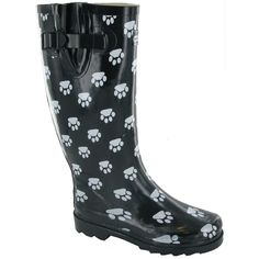 Cotswold Collection Womens/Ladies Fashion Dog Paw Wellington/Rain Boots /Wellies
