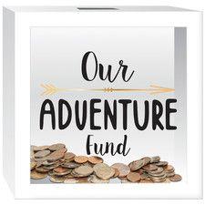 """Our Adventure Fund"" Piggy Bank"