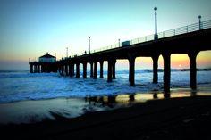 Sunset Manhattan Beach Pier Photography 8x12 fine by gingermandy, $25.00