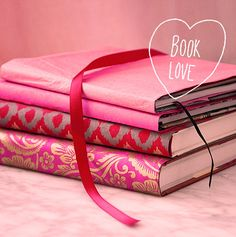 10 Great Books about Love via Design*Sponge Pink Love, Pretty In Pink, Hot Pink, Book Wrap, Pink Jewelry, I Love Reading, Everything Pink, Book Authors, Great Books
