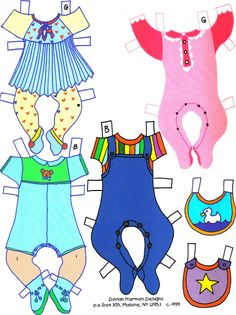Dossie Bubble's PAPER DOLLS Paper Toys, Paper Crafts, Paper Doll House, All Paper, Vintage Paper Dolls, Retro Toys, Art Pages, Free Paper, Bebe