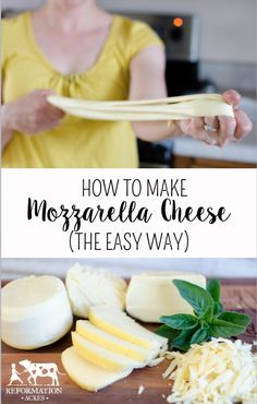 Cheddar Cheese I've been doing it all wrong! This is such a super easy way to make really good mozzarella cheese!I've been doing it all wrong! This is such a super easy way to make really good mozzarella cheese! Recipes With Mozzarella Cheese, Queso Mozzarella, Cheese Recipes, Cheese Food, Easy Cheese, Cheese Plates, Cheddar Cheese, Milk Recipes, Real Food Recipes