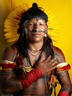Brazilian native tribes are beautiful   http://en.wikipedia.org/wiki/Indigenous_peoples_in_Brazil