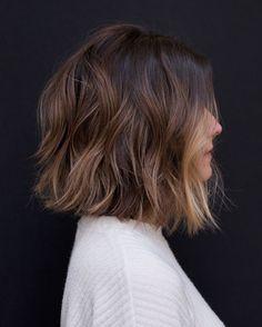 10 coiffures Bob ondulées faciles avec Balayage - 2019 coupes de cheveux courtes pour femmes - Coiffures