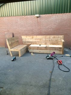 Hoekbank gemaakt van steigerhout Pallets, Pallet, Wood Pallets