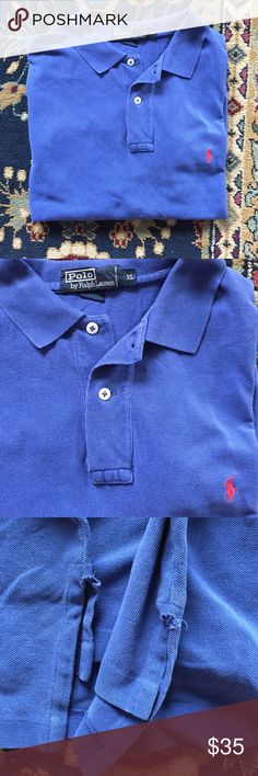 """Polo Men's Classic and simple. The style, comfort and quality you expect from Polo. In good condition with small openings at side, shown in 3rd image. 24"""" underarm to underarm and 30"""" L Polo by Ralph Lauren Shirts Polos"""