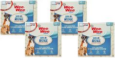Wee-Wee Paisley Pop Up Dispenser With 50 Count Dog Housebreaking Pad Roll (4 Pack) * You can get additional details at the image link.