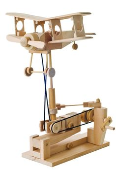 Woodworking Projects For Kids A wooden kit for you to build at home- add a powered base for continuous movement Kids Woodworking Projects, Woodworking Toys, Wood Projects, Woodworking Classes, Wood Crafts, Diy And Crafts, Wooden Model Kits, Kits For Kids, Wood Toys