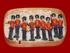 Hand painted wooden soldiers, circa 1870