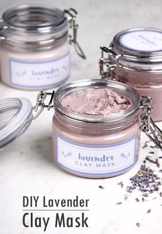 DIY Lavender Clay Face Mask – Soap Queen Usually clay masks are designed for oily skin. Because clay absorbs oil, it's a natural fit. This Lavender Clay Face Mask was specifically formulated for dry an Diy Masque, Clay Face Mask, Face Mask Diy, Dit Face Mask, Diy Hydrating Face Mask, Diy Beauty Face Mask, Clay Faces, Homemade Face Masks, Homemade Beauty Products