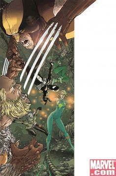 X-Men and Spider-Man by Mario Alberti