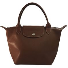 Pre-owned Longchamp Reserved For Rybka Modele Depose Leather Brown... ($110) ❤ liked on Polyvore featuring bags, handbags, tote bags, brown, leather satchel handbags, brown leather handbags, genuine leather tote, brown tote bag and satchel handbags