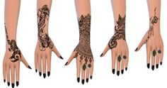 lilsimsie faves — georgeceline:   Henna Tattoos  - 6x swatch  -...