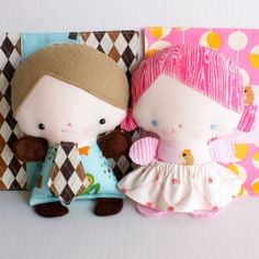 Wittle Whimsy Harry & Ginny PDF Pattern by bitofwhimsyprims, $11.00