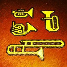 Musical instruments -- perler beads