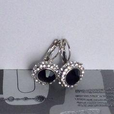 HOST PICKBlack 14K White Gold Plated Earrings Classic Black 14K White Gold Plated Earring Jewelry Earrings