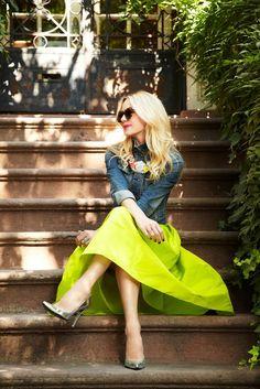 Neon skirt.
