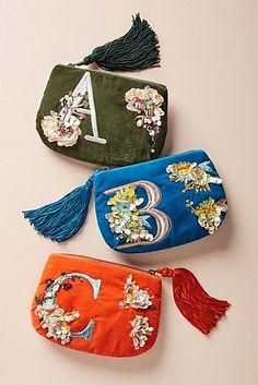 Flowering Monogram Pouch