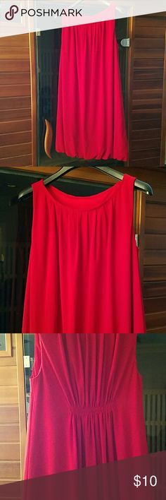Cute red dress size small I took the tag out but this is a small, and lined. Very cute dress and comfortable.  Preloved loved in good condition. True to red. Falls mid to low above knee. I'm 5'3. Wear with Sandals or heels. Took the tag off , but it might very been bcbg. I can't remember. Dresses
