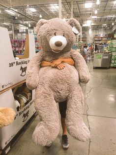 huge teddy bear at Costco