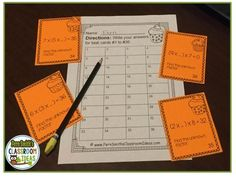 Associative Property of Multiplication Task Cards and Recording Sheets with Common Core Listings and a cute Kid and Cupcake Theme. Four #FREE Task Cards To Try Before You Buy #TPT $paid