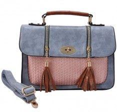 Light Blue - Designer Inspired Knit Panel Satchel/Messenger Bag with Tassel No Frills, Messenger Bag, Light Blue, Satchel, Design Inspiration, Pocket, Handbags, Zip, Best Deals