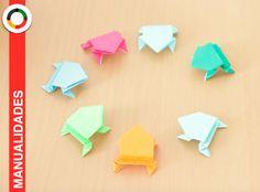 Origami: ranas papel saltarinas. Jumping frog