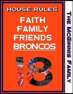 Denver Broncos Art Art Decor Typography by PhotographybyLarryJ, $10.00