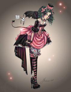 Pretty Lolita Redo  by ~NoFlutter  Manga & Anime / Digital Media / Drawings©2010-2012 ~NoFlutter