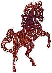 "Rearing Horse Laser Cut Steel Wall Hanging High Spirits 30"""